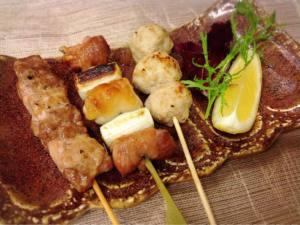 大和肉鶏 串三種盛り